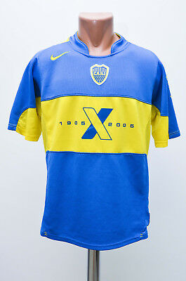 Boca Juniors Argentina 2005 Centenary Home Football Shirt Jersey Maglia Nike