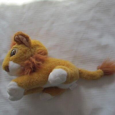 "DISNEY 1994 Lion King Simba Transforming young to adult 9"" Plush Doll"