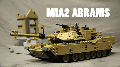 Custom M1A2 Abrams MBT Tank & Hummer KAZI 1463 Pcs Compatible with Lego