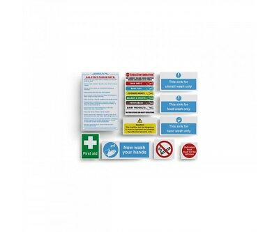 Hygiene Catering Pack includes 10 Kitchen Health Hygiene & Safety Signs Notice