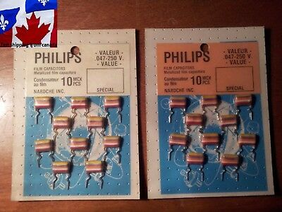4 condensateur 0,18uF 180nF 100V Philips Tropical Fish