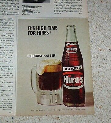 1973 ad - Hires Root Beer soda pop Beverages International Evanston IL advert