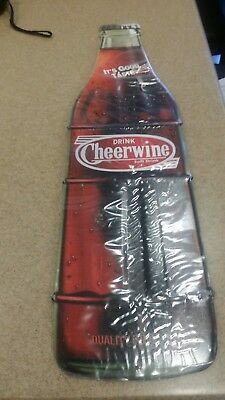 "Limited Drink Cheerwine Bottle Soft Drink Cola 23"" Thermometer Store Sign"