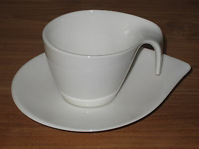 VILLEROY & BOCH *NEW* Flow Set 6 Tasses à café 20cl avec soucoupes V&B Cups