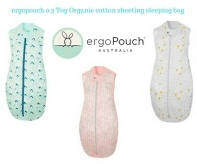 ergoPouch  0.3 tog Organic Cotton Sheeting Sleeping bag various styles FREE POST