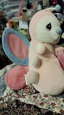 Precious Moments Tender Tails Plush Toy Rare Pink Butterfly