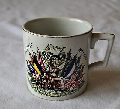 Sir David Beatty's Wwi 1914-19 Historic Peace Signal End Of War Antique Mug