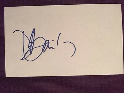 Donovan Bailey Olympics Sprinter Autographed Signed Index Card