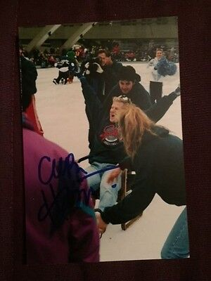 Curt Harnett Olympics Cycling Autographed Signed Photo