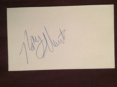 Happy Hairston (D. 2001) LA Lakers Autographed Signed Index Card