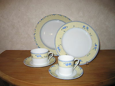 GUY DEGRENNE *NEW* Myosotis Set 2 Assiettes + 2 Tasses