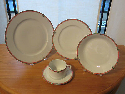 PORCELAINE CNP *NEW* OXFORD EMILIE Set 3 assiettes + 1 tasse Set 3 plates+1 cup