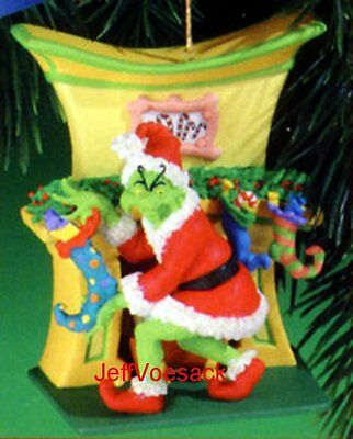 """The Grinch  """"Holiday Scoundrel""""  Carlton Cards 2001 Ornament SCB"""