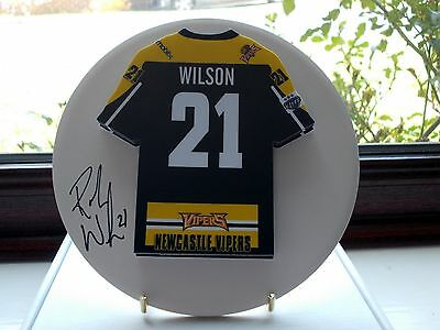 Rob Wilson, Newcastle Vipers, Rare & Stunning Autographed/signed Plaque.