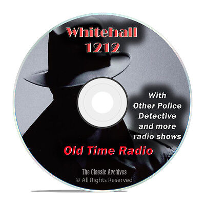 Whitehall 1212, 1,486 Old Time Radio Police Detective Crime Drama Shows DVD G69