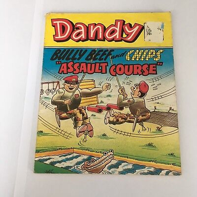 """Dandy Comic Library Vintage Bully Beef and Chips 1985 """"Assault Course"""""""