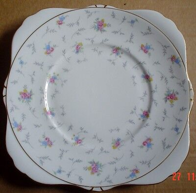 Grafton China Cake Plate FLOWERS FLORAL