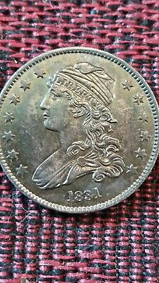 BEAUTIFULLY TONED 1831 Capped Bust Quarter with doubling of date