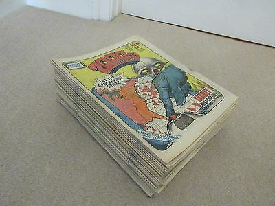 2000AD  Comics x 52 from 1982-Complete year, No 245-Jan 2nd to No 296- Dec 25th