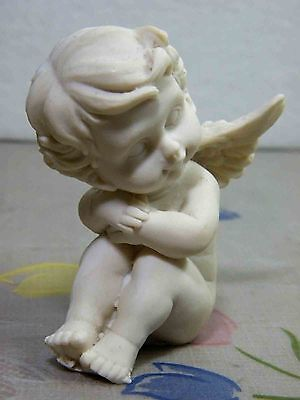 Lovely Angel Sleeping On The Floor Marble Resin Sculpture Statue Home Decoration
