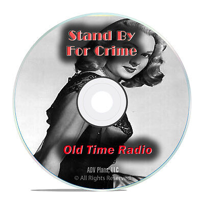 Stand By For Crime, 722 Old Time Radio Shows, Police, Crime Detective DVD G77