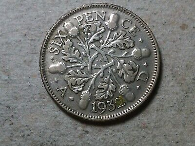 Great Britain 6 pence sixpence  1932  KGV Wedding coin gift  silver
