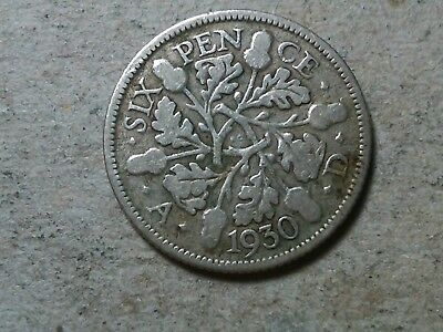 Great Britain Sixpence 1930 6 pence  Wedding coin gift . George V silver