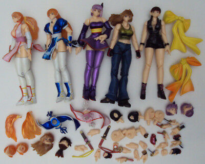 doa Dead Or Alive Set Of 5 Trading Figures