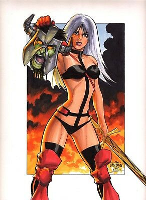Sexy Taarna Heavy Metal Original art by Scott Dalrymple CGC it??