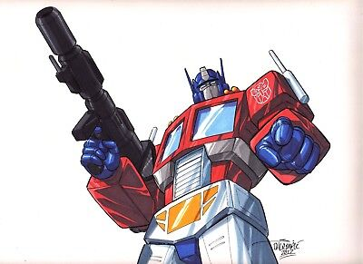 Optimus Prime Megatron Ironhide Transformers Starscream original art