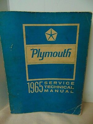 1965 Plymouth Shop Service Technical Manual
