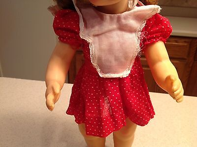 "Vintage Terri Lee Doll Clothes Fits 16"" Doll Red & White Polka Dot Dress"