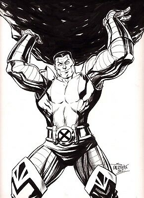 Colossus Rogue X-Men Wolverine Jean Grey Phoenix Cyclops Deadpool original art