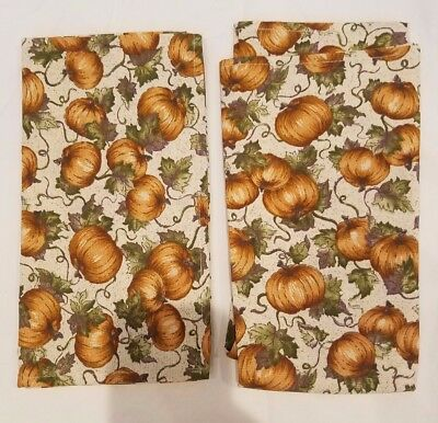 NEW Longaberger 2 Pack Pumpkin Patch Napkins - New in Bag