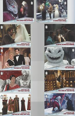 CHRISTMAS TIME Complete Set CT-1 through CT-10 Foil Chase Doctor Who 2015 Topps