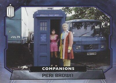 COMPANIONS C-10 Peri Brown / Nicola Bryant Foil Chase Doctor Who 2015 Topps