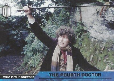 D-4 4th Fourth Tom Baker Who is the Doctor Foil Chase Doctor Who 2015 Topps