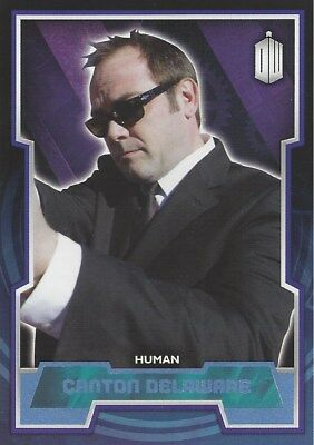 Parallel Base Card Blue 122 #130/199 Canton Delaware Human Doctor Who 2015 Topps