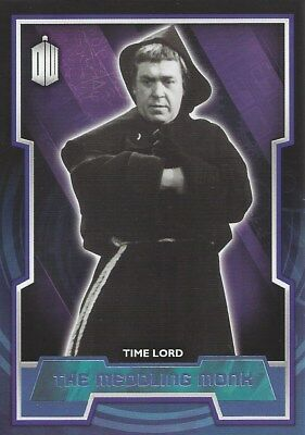Parallel Base Card Purple 21 #61/99 Meddling Monk Doctor Who 2015 Topps
