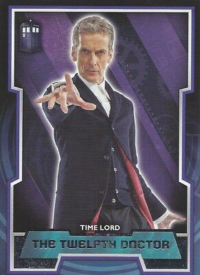 Short Print Tardis Logo Variant #12 12th Twelfth Parallel Doctor Who 2015 Topps