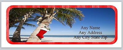 Personalized Address labels Beach Christmas Buy 3 get 1 free (ac 512)