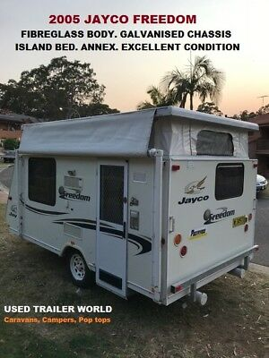 2005 Small Jayco Freedom Pop Top Caravan. Island Bed, Annex & Galvanised Chassis