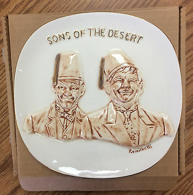 LAUREL & HARDY Sons of the Desert Plate (#1270, Romeinelli Limited Ed., 1971)