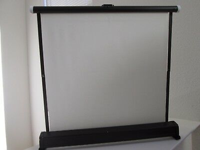 "Vintage Collapsible Table Top Slide and Movie Screen 18"" X 17"" With Case"