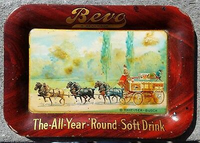 1920's Bevo Tip Tray - A Beverage The All Year Round Soft Drink ©Anheuser-Busch