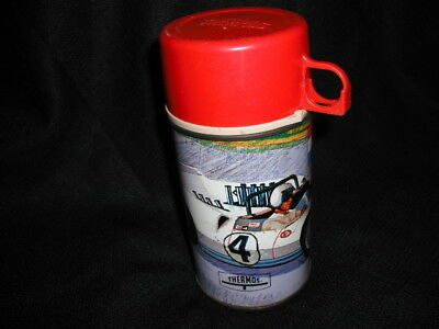 1967 Auto Race Thermos for Lunch Box * Vintage * Good condition