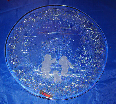 Vintage L. E. Smith Christmas Village Toy Shoppe Platter 12 Inch - New In Box