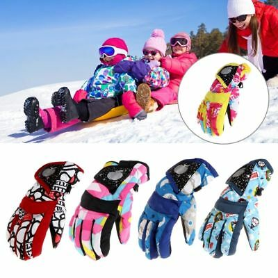 New Winter Water-proof Ski Gloves Child Snow Sports Gloves Xmas Children Gifts