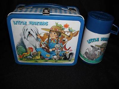 * Very Rare * Very Nice Vintage 1982 Little Friends Lunch Box & Thermos !!!