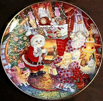 Not a Creature Was Purring - Franklin Mint Porcelain Plate - 1993